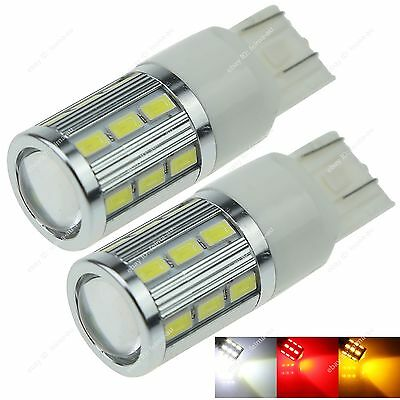 2x T20 Dual Filament 7443 7440 18 SMD 5630 LED 1 CREE Stop Brake Rear Tail BUlbs
