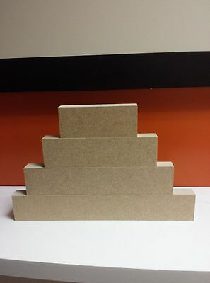 5 sets of 4-18mm Mdf Freestanding stacking blocks CNC cut Craft shapes 4cm