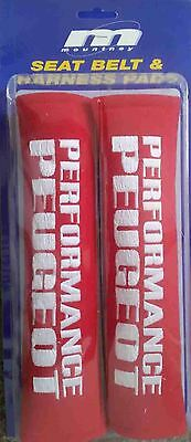 Seat Belt Cover, Harness Shoulder Pad Performance Peugeot In Red (Pair Of)