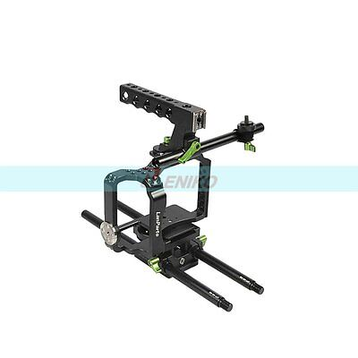 Lanparte MCK-01 Top Handle Baseplate Cage For Sony A7S Panasonic GH3 GH4 Camera