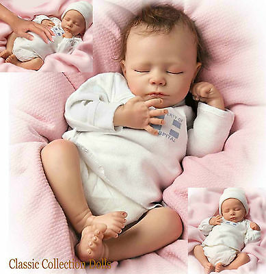 "Ashton Drake ""ASHLEY"" LIFELIKE BREATHING NEWBORN BABY GIRL DOLL-NEW- IN STOCK !"