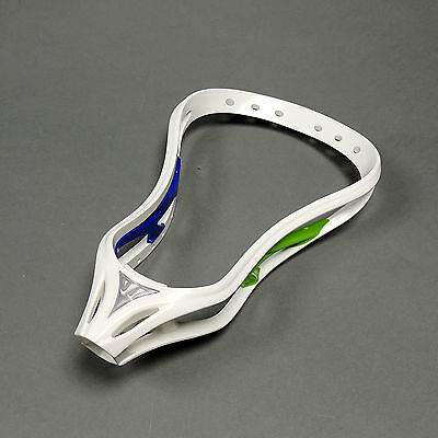 Warrior Evo 3 2 Face Unstrung Lacrosse Head Lax X Wht/Grn/Blue (NEW) Lists @ $89