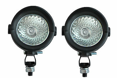 Pair of Small 12V 35W Halogen Spotlights for Adventure Motorcycle Motorbike Quad