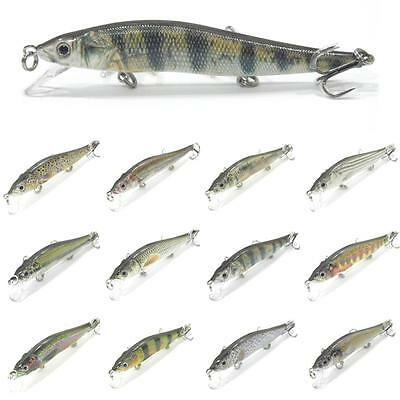 wLure Minnow Fishing Lures RealSkin Painting 2X Strong Hooks Tight Wobble HM262S