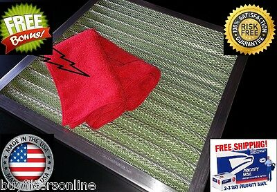 SUPREME air filter permanent washable reusable furnace ac WITH FREE SUPER CLOTH