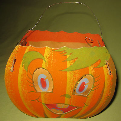 1940s Double Sided Jack O' Lantern Very Hard To Find by Dolly Toy Company