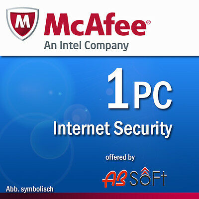 McAfee Internet Security 2017 1 PC 12 Months License Antivirus 2016