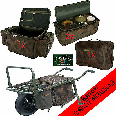 Fox Explorer Barrow Carp Inc Straps *New Aug 15* Complete with Luggage as Shown