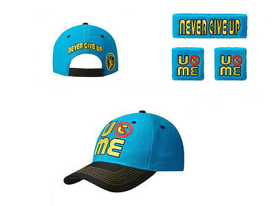 Special Free Shipping Hot WWE John Cena Hat+Wristbands 3 Piece Set