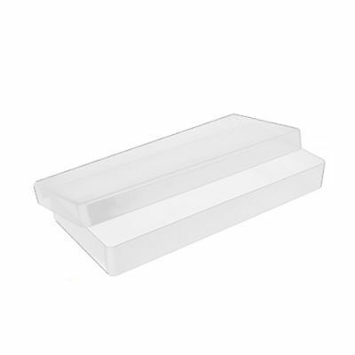 10 x Peel Off Box Clear Plastic Storage Craft Container Boxes