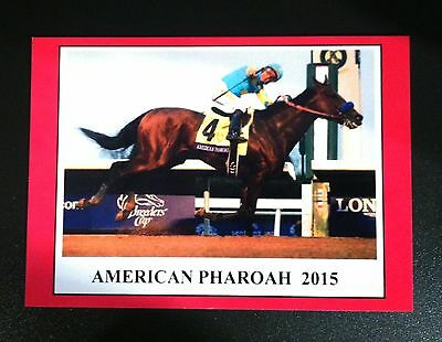 AMERICAN PHAROAH 2015 Star Horse - Triple Crown & Grand Slam winner trading card