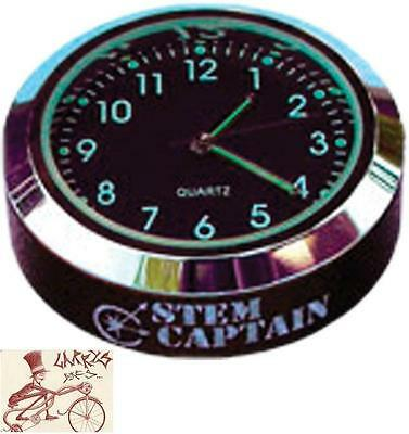 """Stemcaptain Clock 1-1/8"""" Top Cap For Mtb-Bmx-Road Bicycle Headsets"""