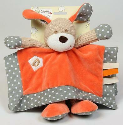 Baby Comforter Security Blanket Darcy the Dog Toy by Alluring Baby Co Blankie