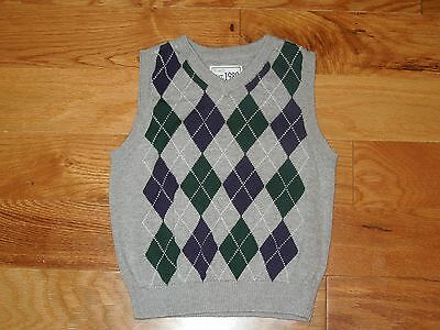 Boys Children's Place argyle sweater vest ~ 18 24 months Christmas Holiday