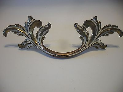 VTG Brass WATERFALL Dresser DRAWER Pulls Art Deco Antique White Henry Link Style