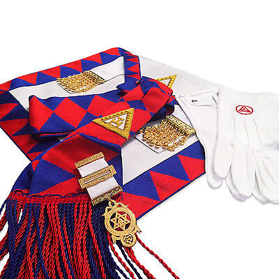New Masonic Royal Arch Companions Apron, Sash, Jewel & Gloves RA Chapter Regalia