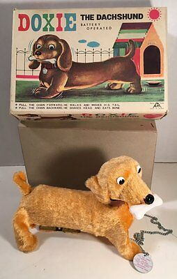 Vintage Battery Operated Doxie The Dachshund Dog (Boxed)