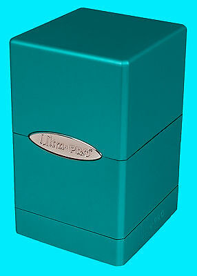 ULTRA PRO METALLIC OCEAN SHIMMER SATIN TOWER DECK BOX New Card Dice Compartment