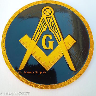 Masonic Link Chain Design  Auto Emblem FreeMasonry Car Lodge Mason Freemason #3