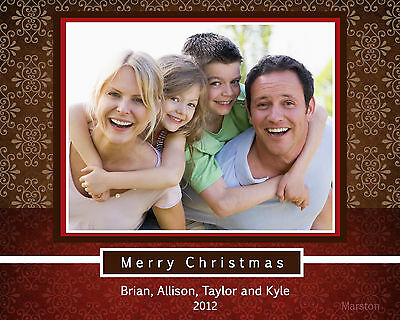 PRINT YOUR OWN Personalized Christmas Photo Cards, Digital File *any design*