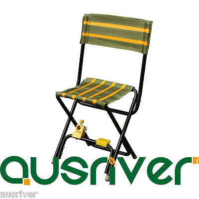 Portable Fishing Outdoor Chair Seat Folding Cloth Stool with Backrest Rod Holder