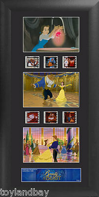 Film Cell Genuine 35mm Framed Matted Walt Disney Beauty& the Beast Trio USFC5715