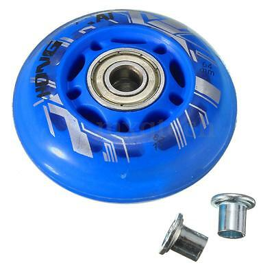 4 Pcs PU Replacement Wheels For Rollerblade Skating Inline Skate Shoes 64mm 82A