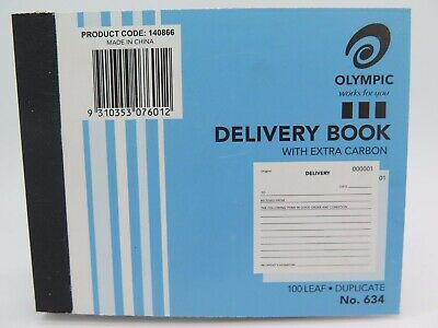 10 x Olympic #634 Delivery Book Duplicate 100x125mm 100Lf 140866.