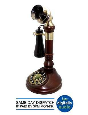 Steepletone Brown SNW05 Antique Style CandleStick Telephone Candle Stick NEW