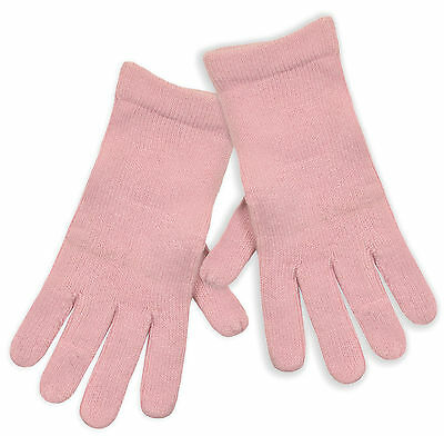 Ladies Pale Pink Knitted Winter Gloves New Women's Soft Touch Gloves One Size