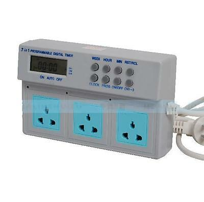 Timer for Aquarium Light Wave Maker Programmable Digital Power Socket Controller