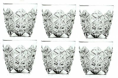 Set Of x 6 RCR Enigma Whisky Set Crystal Glass Tumbler, In Gift/Presentation Box