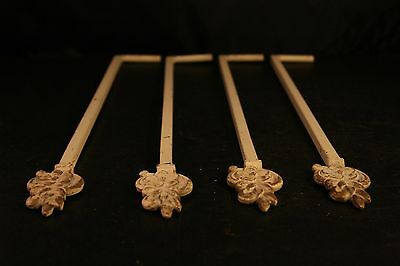 Set Of 4 Vintage Adjustable Swing Arm Curtain Arms Shabby Chic Metal-11T!