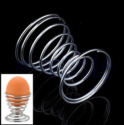 High Quality 1Pc Steel Spring Wire Tray Stainelss Egg Cup Boiled Eggs Holder HA8