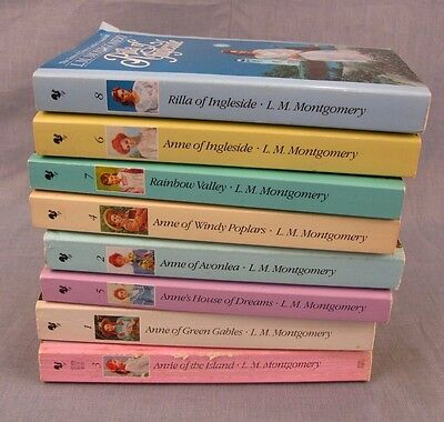 Anne of Green Gables Lot of 8 Paperback Books Collection 1-8 L.M. Montgomery
