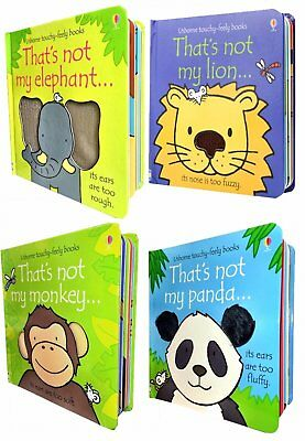 Wild Animals Collection Usborne Touchy-Feely 4 Books Set That's not my Lion, Pan
