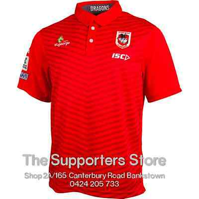 St George Illawarra Dragons NRL 2016 ISC Players Media Polo Shirt Size S-5XL!