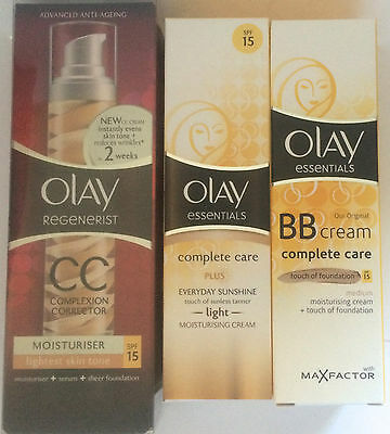 OLAY CREAM, CC CREAM, BB CREAM, SUNSHINE CREAM, Moisturiser
