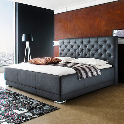 polsterbett pisa doppelbett bettgestell bett wei inkl kopfteil 180x200 cm eur 599 95. Black Bedroom Furniture Sets. Home Design Ideas