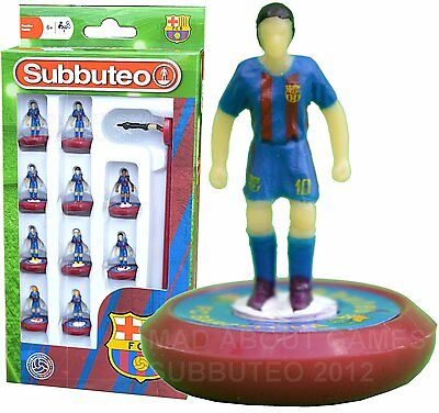 Official FC BARCELONA 2017 Subbuteo Team Football Soccer Toy Game Kids Licensed