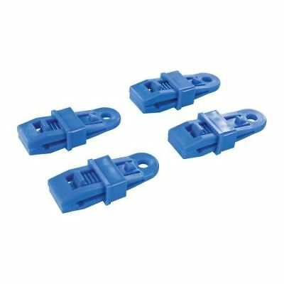 Silverline 4 Reusable Tarpaulin Clips Clip On Eyelets Durable Stall Market Clamp