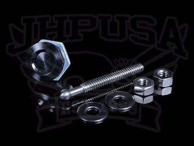 Quik-Latch 22Mm Mini Latch Push Button Bumper/hood Fasteners Honda Acura Black 2