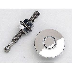 Quik-Latch Mini Latch Push Button Bumper & Hood Fasteners Honda Acura Polished 2