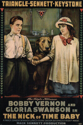 The nick of time baby MOVIE POSTER Vernon & Swanson 1916 24X36 HOT vintage