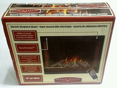 "26"" Electric Fireplace/firebox Mantel Insert Heater Remote Control Logs/flames"