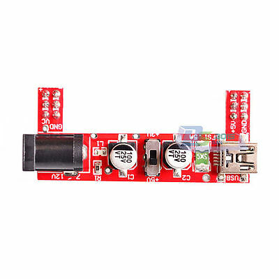 3.3-5V 2 Channel USB DC Power Supply Electronic Module for B10 Breadboard Panel