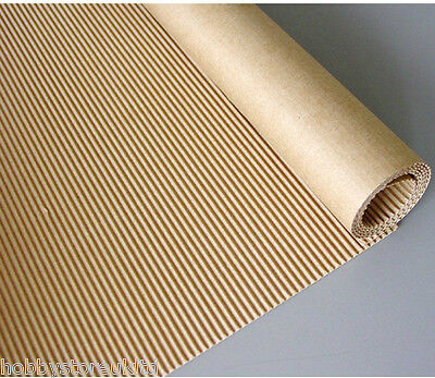 Corrugated Paper Roll Corrugated Brown Paper Cardboard Paper Roll 400mm x 2m New