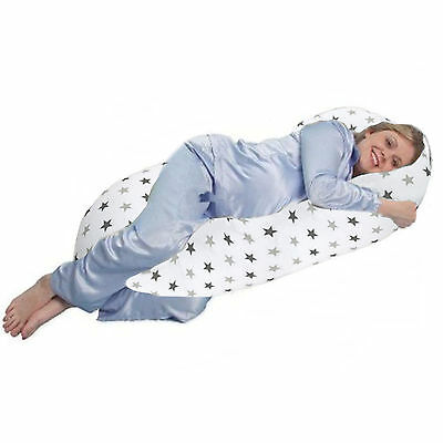 4Baby Silver Twinkle 12 Ft Body & Baby Sleep Support Pillow Maternity Cushion