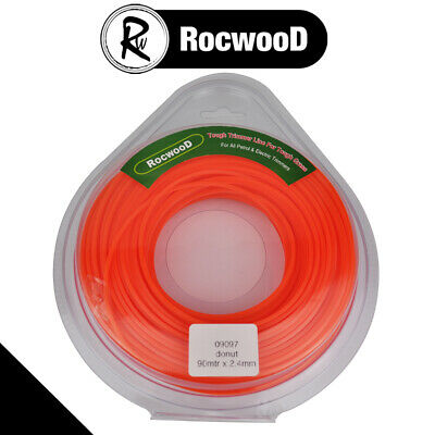 Brushcutter Strimmer Cord Line Square Profile 2.4mm,  90 M Metres 1/2 KG