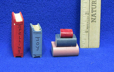 Dollhouse Miniatures Library Books School House Study Wooden Lot Of 3